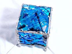 luminaire photophore turquoise