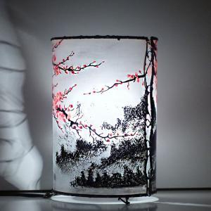 Lampe cylindrique cerisier en fleur du japon 4
