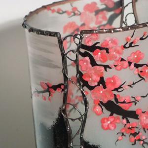Lampe cylindrique cerisier en fleur du japon detail 4