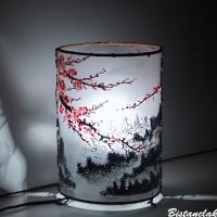 Lampe décorative motif fleurs de cerisier du japon