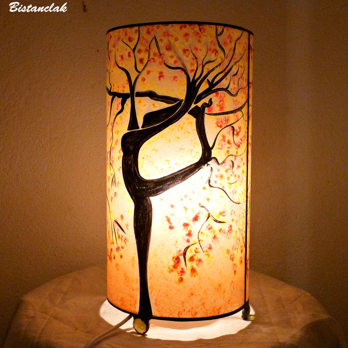 Lampe  sable orange arbre danseuse 3