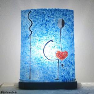 Lampe d ambiance artisanale bleu motif la danseuse de miro
