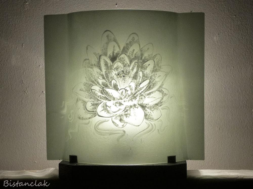 Lampe d ambiance en verre motif lotus