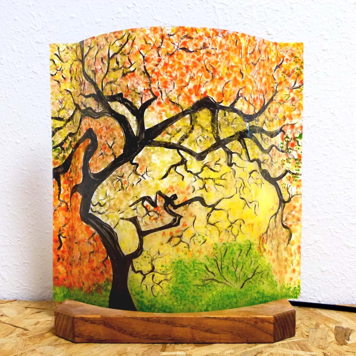 Lampe d ambiance motif sous bois d automne 1