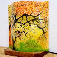 Lampe d ambiance motif sous bois d automne 3