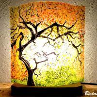 Lampe d ambiance motif sous bois d automne 4