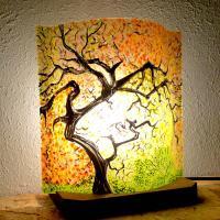 Lampe d ambiance motif sous bois d automne 6