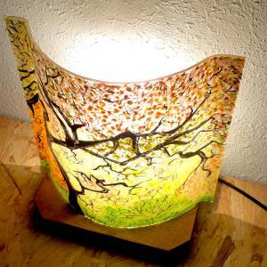 Lampe d ambiance motif sous bois d automne 7