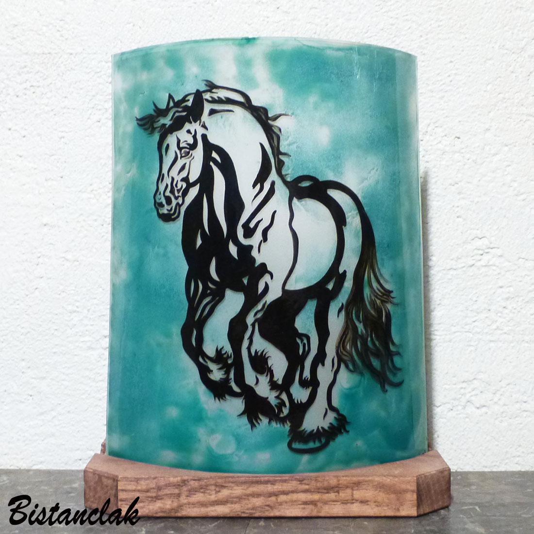 Lampe motif cheval