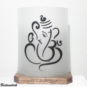 Lampe decorative blanche motif ganesh vendue en ligne