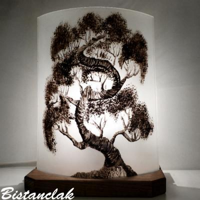Lampe décorative monochrome motif Bonsaï
