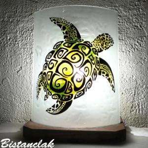 Luminaire décoratif motif tortue verte