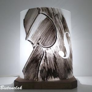 Lampe décorative monochrome motif violon; création artisanale française
