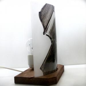 Lampe demi cylindre violon noir et blanc 4