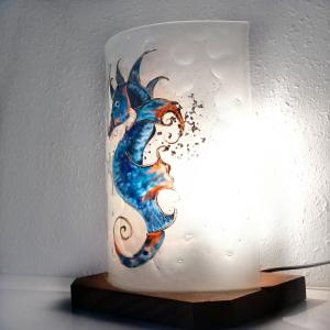 Lampe hyppo bleu orange1 2