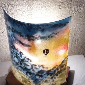 Lampe multicolore motif mongolfiere 3