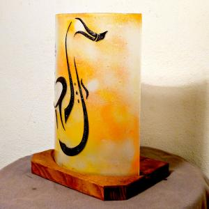 Lampe orange saxo 4