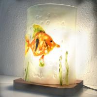 Lampe poisson orange1