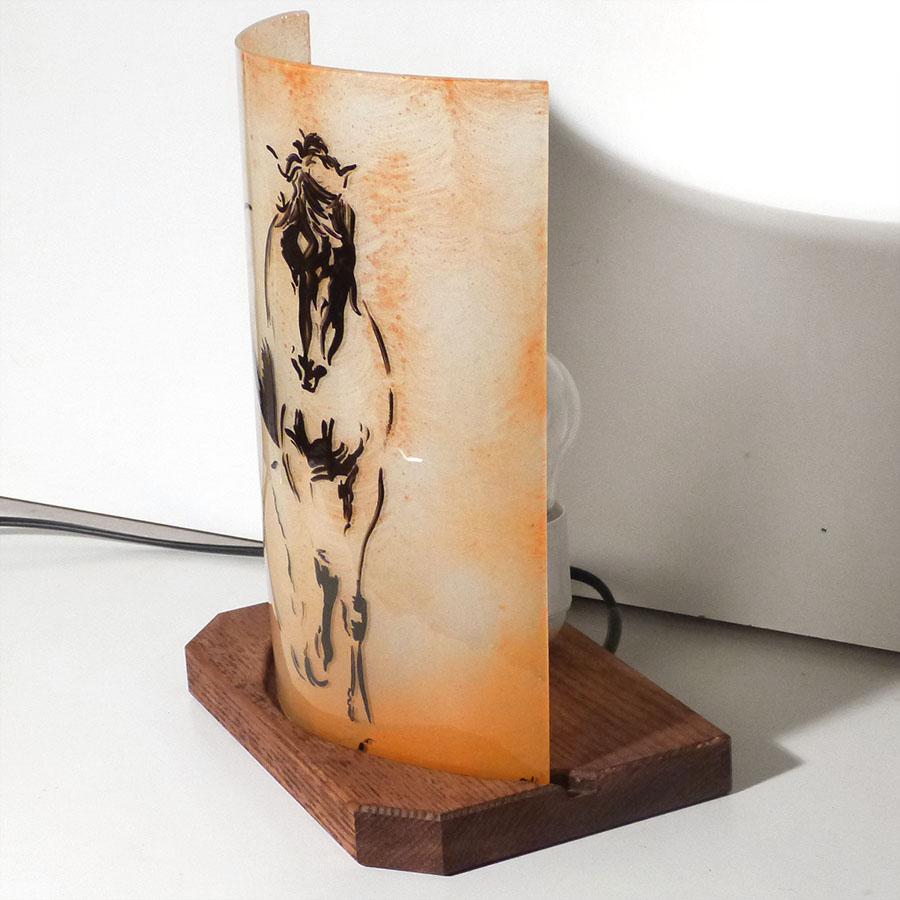 Lampe sable cheval de devinci 1