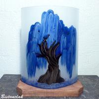Lampe saule pleureur bleu cobalt 3