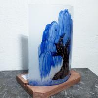 Lampe saule pleureur bleu cobalt 4