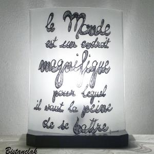 Lampe texte