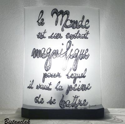 Lampe texte