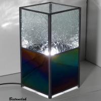 Lampe vitrail iridescent et froisse incolore 5