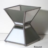 Lampe vitrail sablier noir et blanc 6