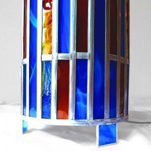 Lmape vitrail bleu et ambre1