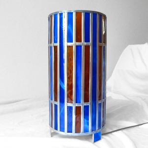Lmape vitrail bleu et ambre4