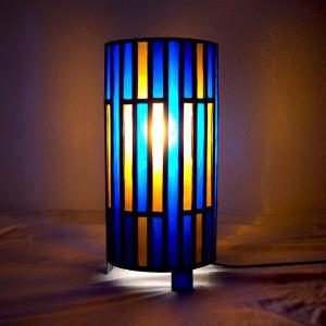 Lmape vitrail bleu et ambre6