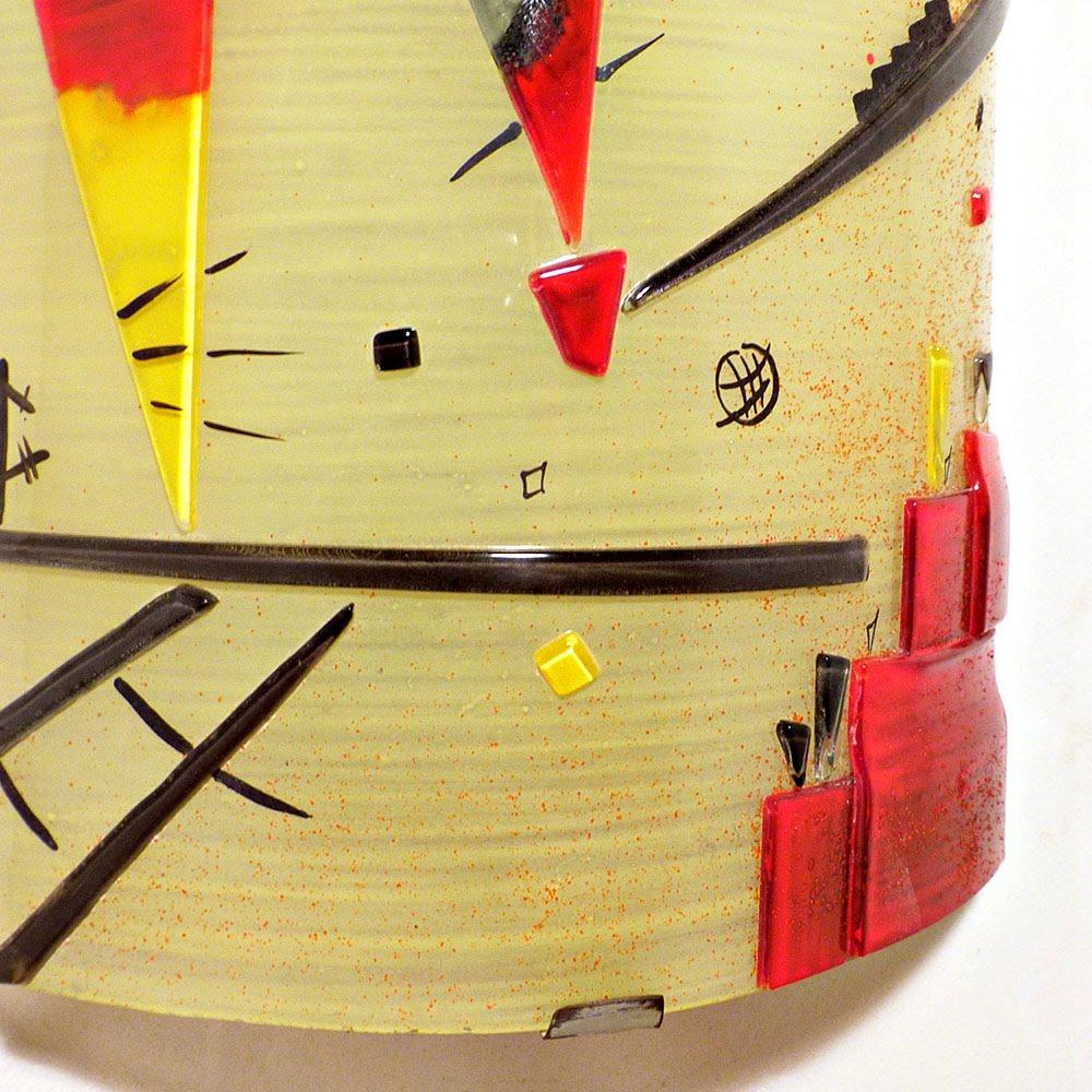 Luminaire applique murale jaune et rouge inspiration kandinsky structure joyeuse 7
