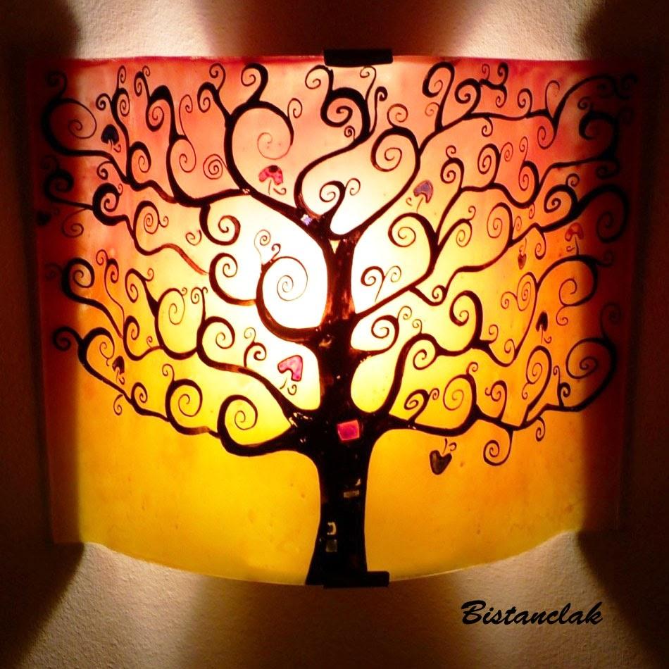 luminaire applique murale rouge jaune l 39 arbre de vie. Black Bedroom Furniture Sets. Home Design Ideas