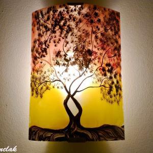 Luminaire applique murale motif arbre de jane jaune et rouge 5