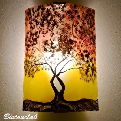 Luminaire applique murale rouge et jaune L'arbre de Jane