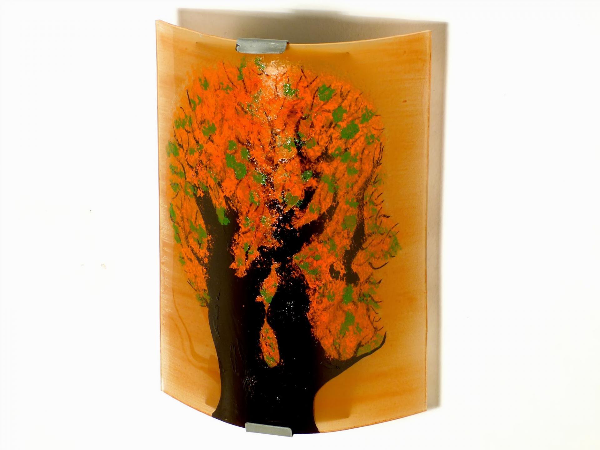 applique murale orange et vert arbre en t te. Black Bedroom Furniture Sets. Home Design Ideas