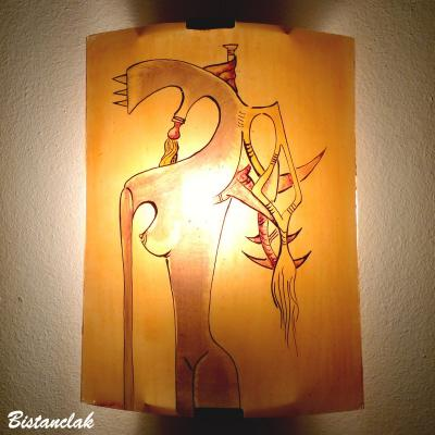 Luminaire applique murale sable orange inspire de wifredo lam 4
