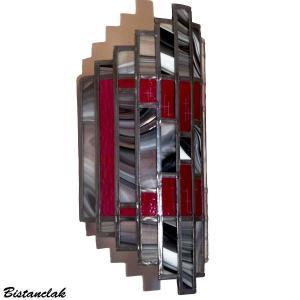 Luminaire applique vitrail artisanal tendance art deco