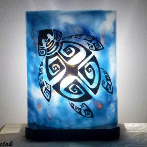 Luminaire artisanal motif tortue 1