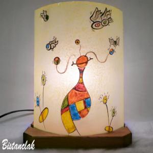 Lampe fantaisie multicolore motif le monde de globulle