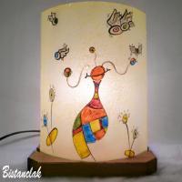 Lampe fantaisie multicolore motif le monde de globulle tendance street art
