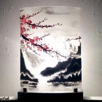 Luminaire motif cerisier du japon