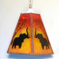 Lustre trapeze arbre et elephant 1
