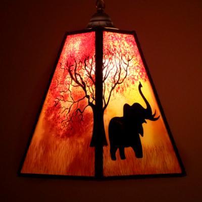 Mr Jubiler - Lustre suspension Arbre et éléphant