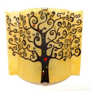 lampe applique jaune blé motif arbre de vie