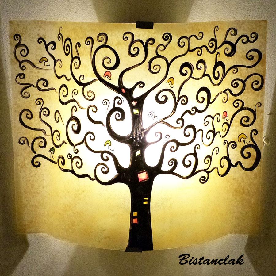 Luminaire applique murale jaune moisson arbre de vie for Decoration murale arbre de vie