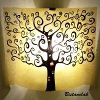 applique murale arbre de vie jaune moisson