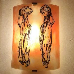 Applique murale orange les femmes nomades