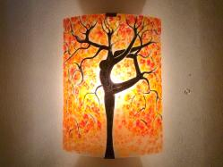 applique murale orange arbre danseuse